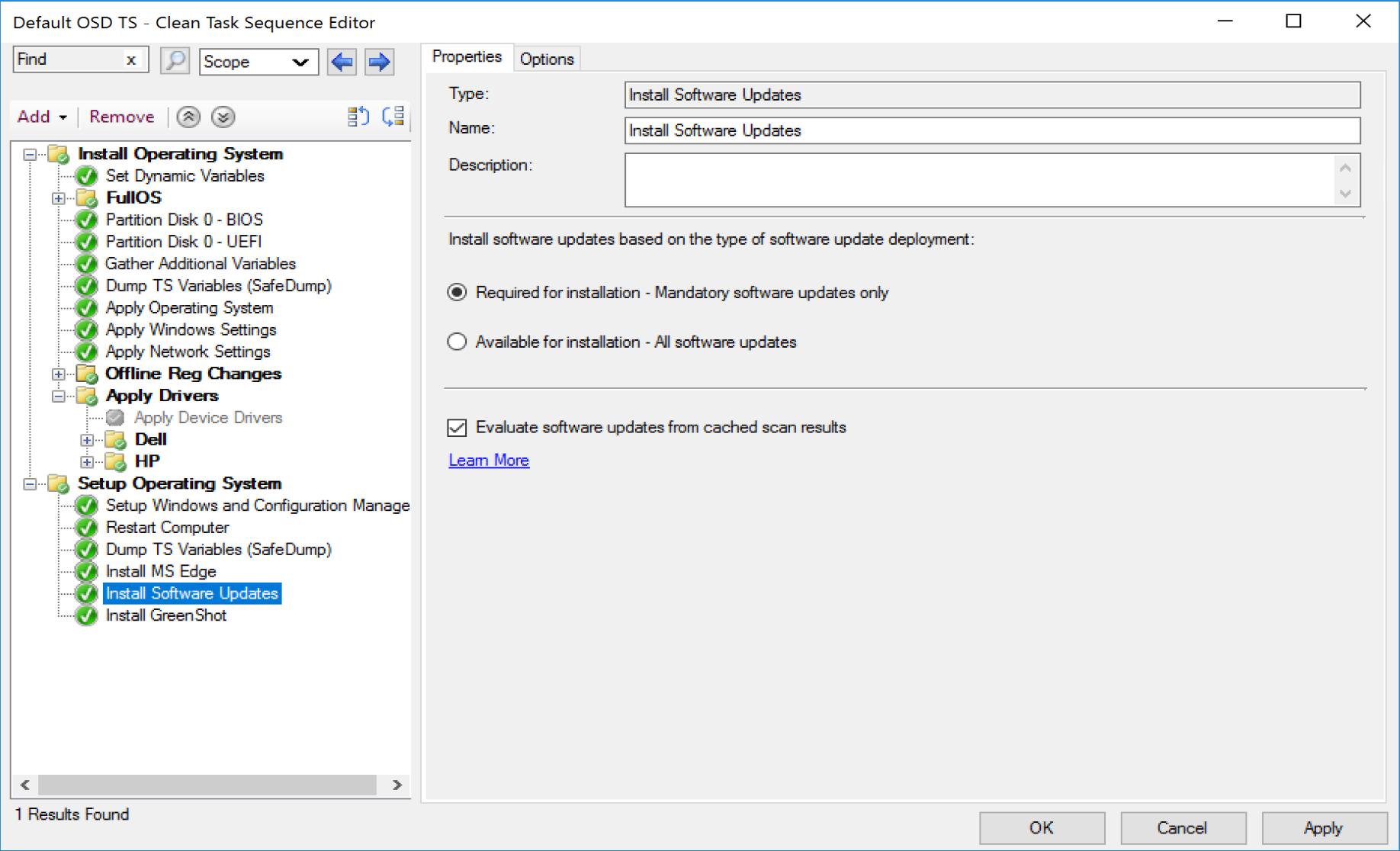Install Software Update 1