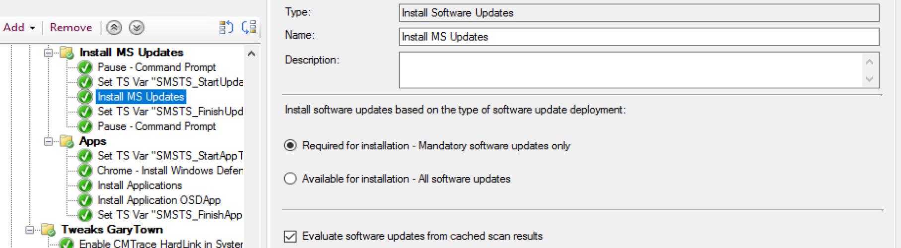 Install Software Update 7