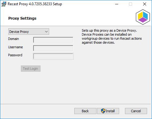Proxy Settings - Device Proxy