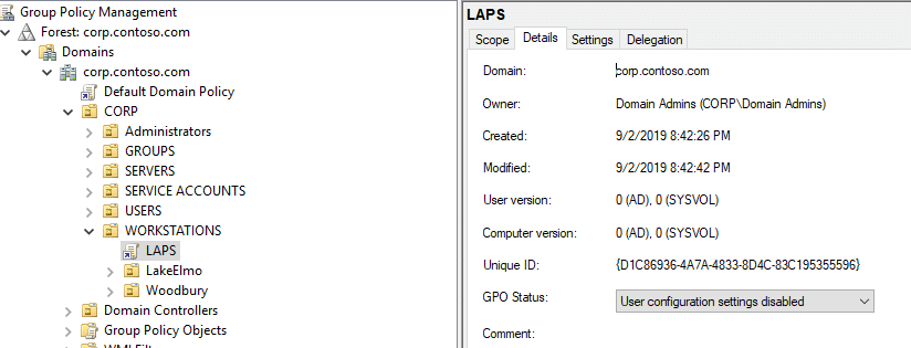 Launch Group Policy and create your LAPS Policy
