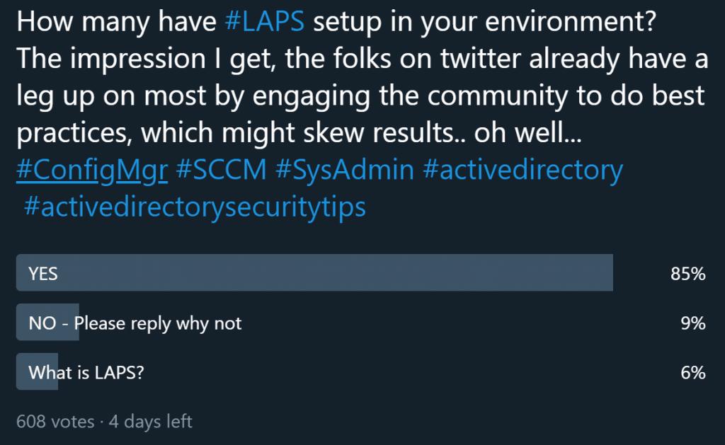 LAPS Twitter Survey