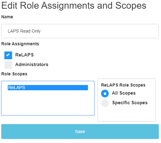 Edit Role Assignments and Scope