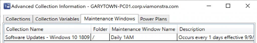 Maintenance windows