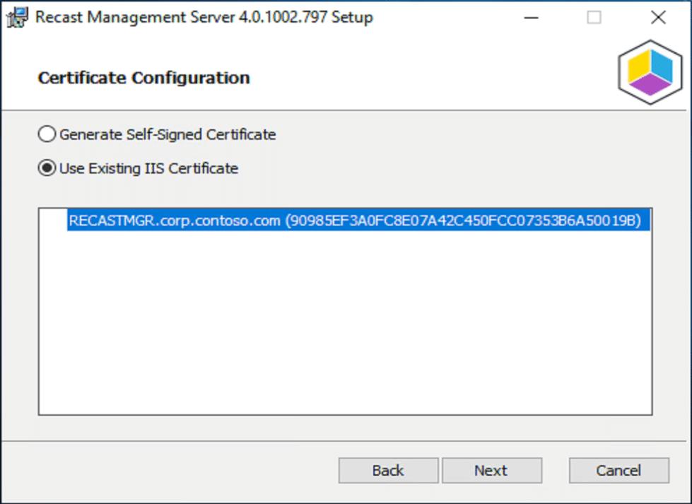 Certificate Configuration