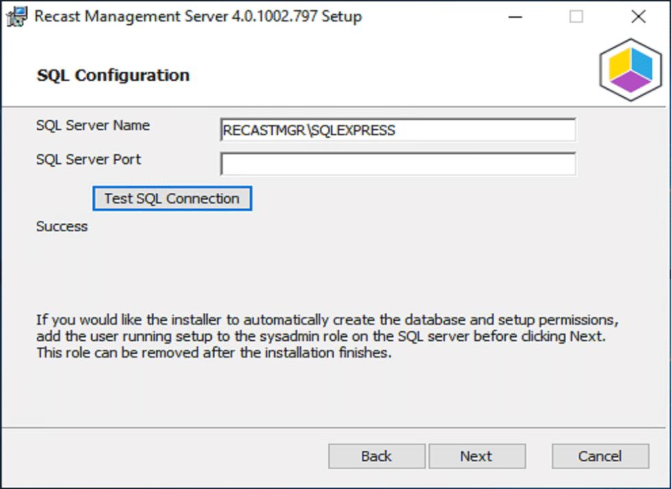If you use Remote SQL, you'll need to change this.