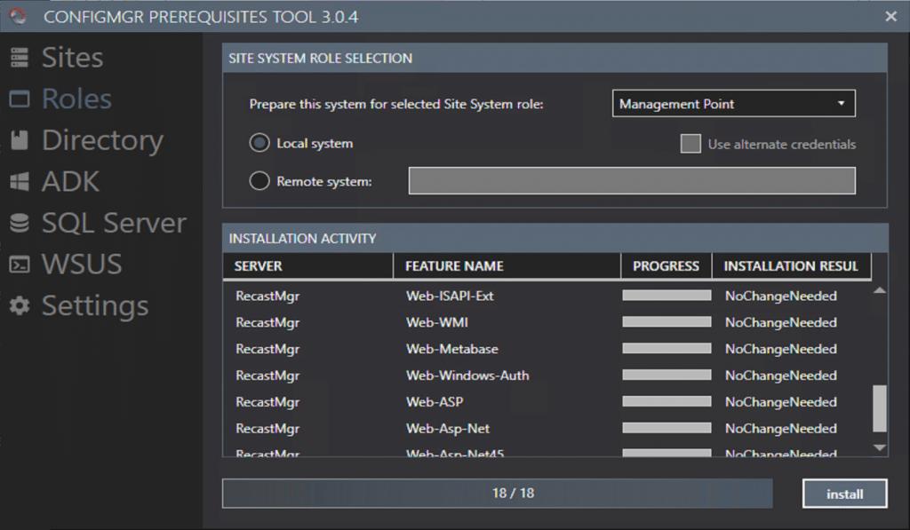 Community Tool: ConfigMgr Prerequisites Tool