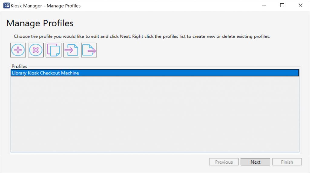 """Create a Profile using """"Manage Profile"""""""