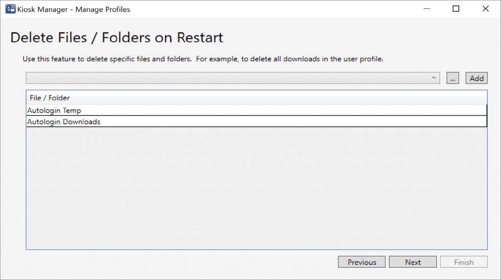 Delete Files / Folders on Restart