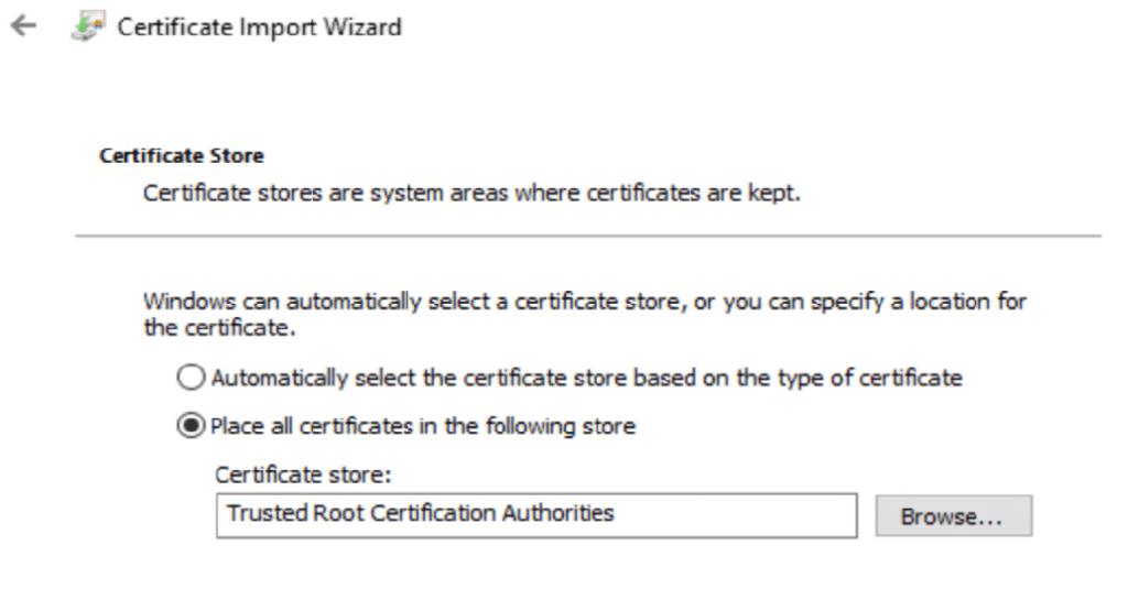 Certificate Import Wizard