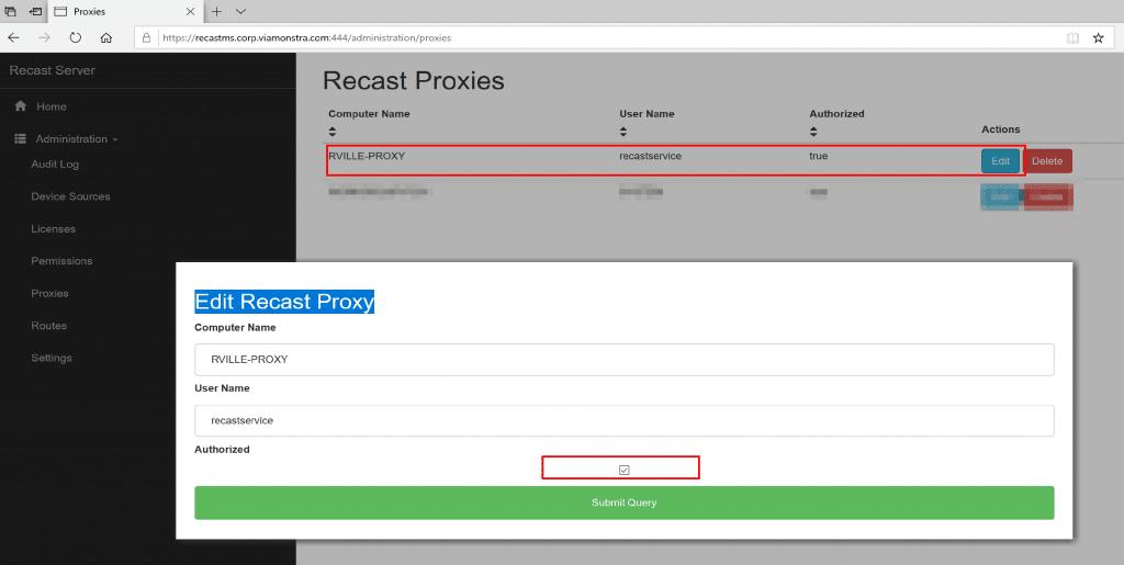 Recast Server Portal