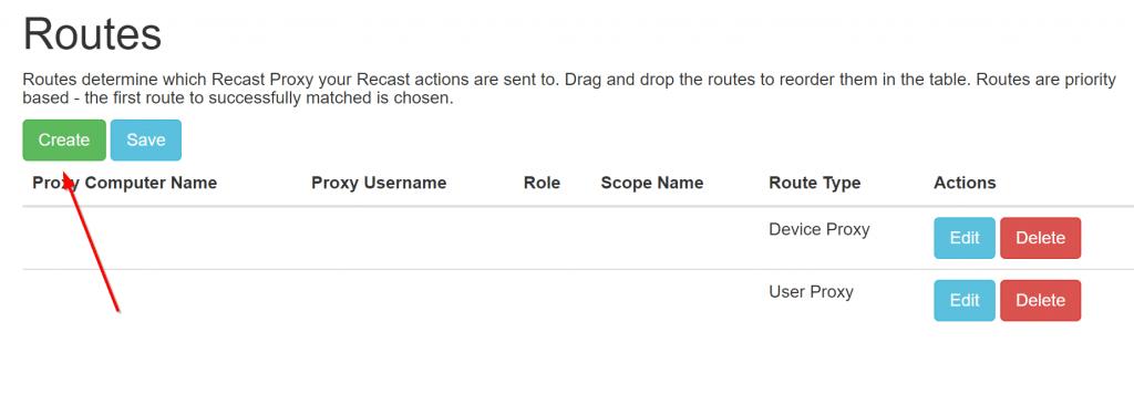 Create Routes