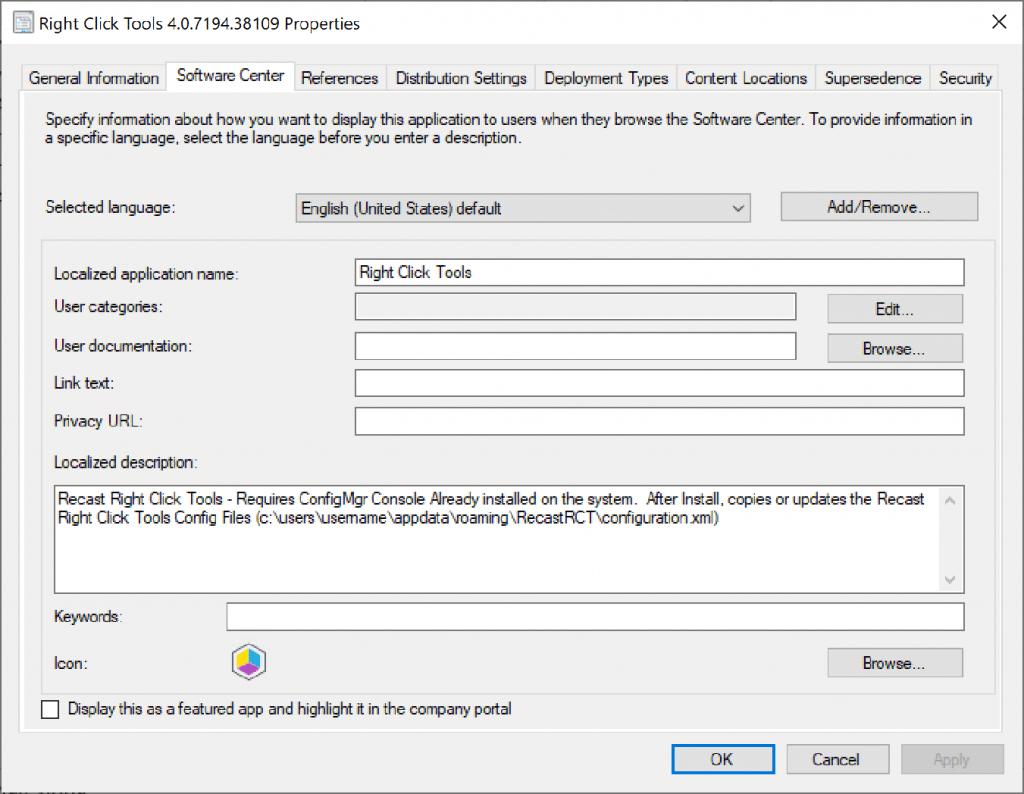 Silent Installation - ConfigMgr App Model