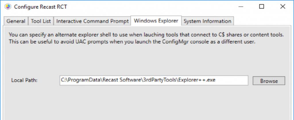 Configure Recast Right Click Tools