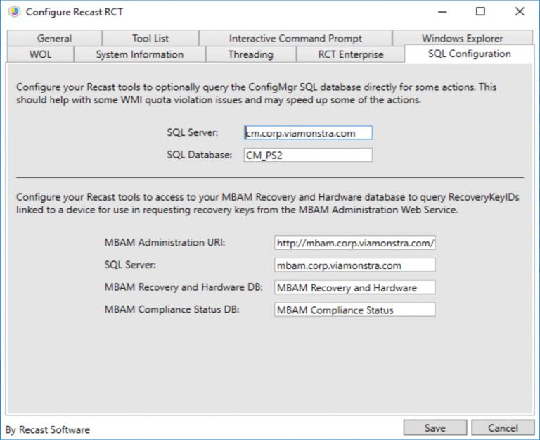 SQL Configuration