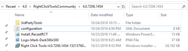 Completed Source Folder: