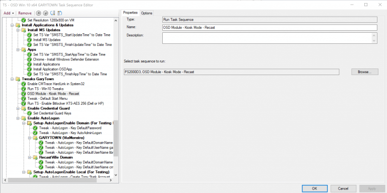 Add Module Task Sequence as a sub task