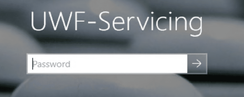 The Account that is running for Servicing Mode