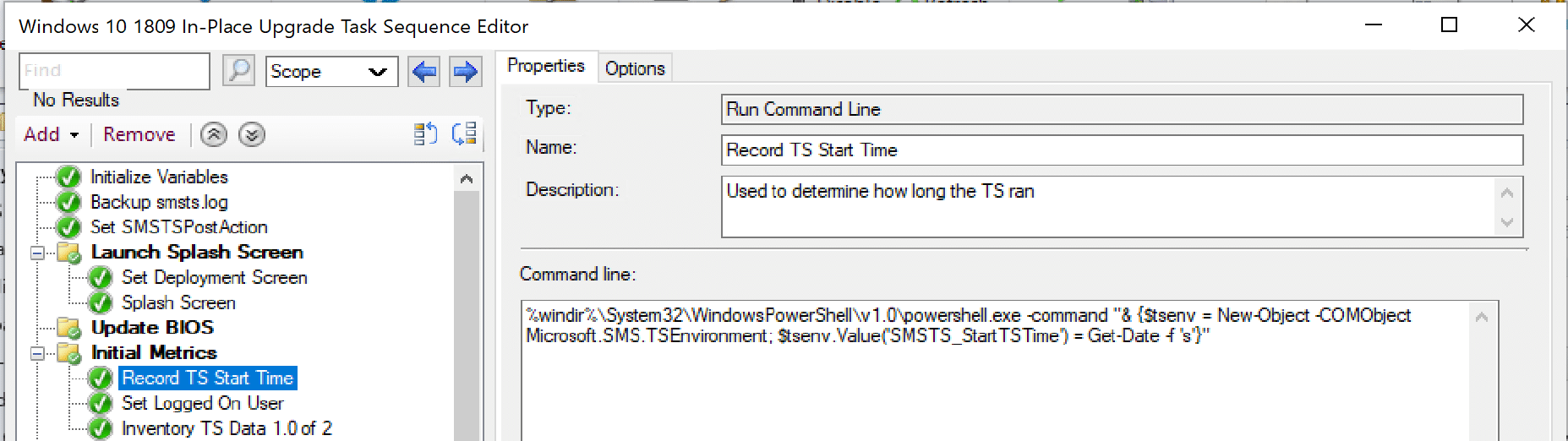 """The""""old days"""" of using PowerShell in the Task Sequence"""