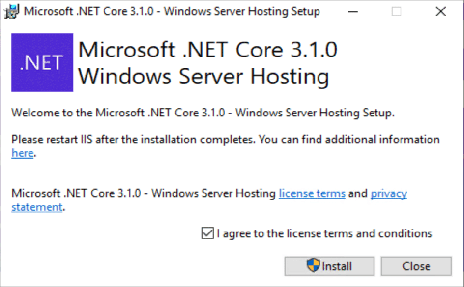 Once downloaded, launch the installer
