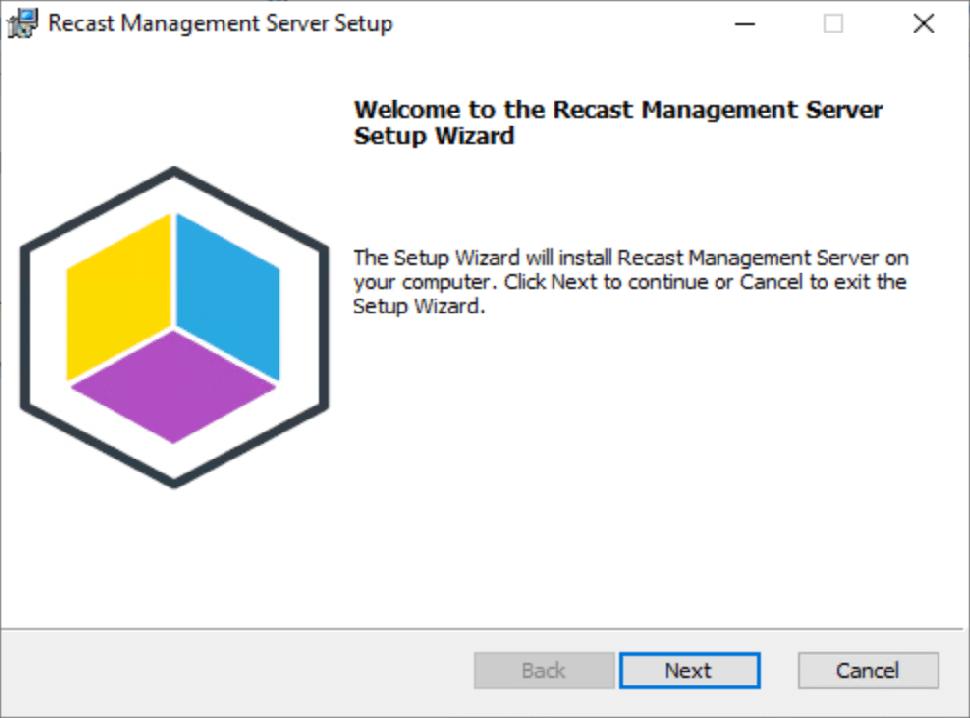 Install Recast Management Server 4.1