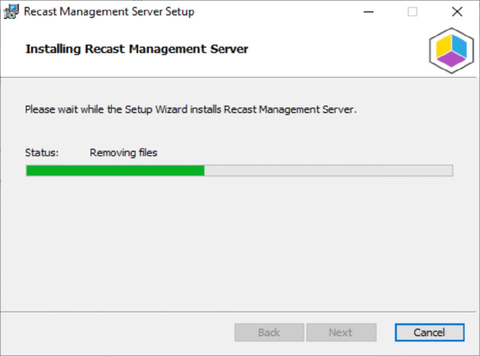 Installing Recast Management Server