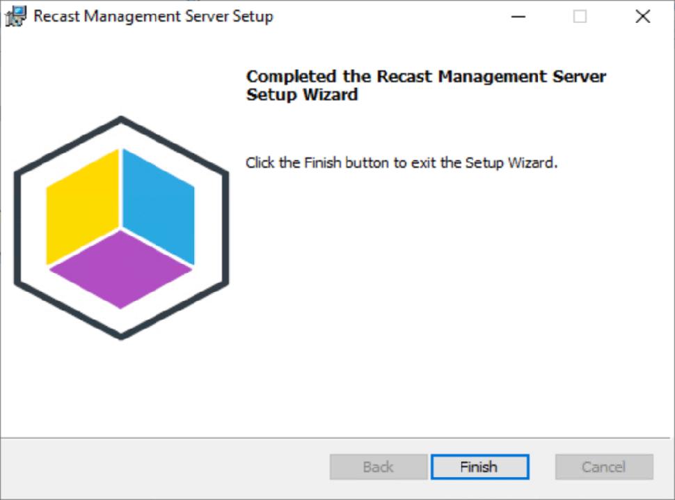 Recast Management Server Setup Complete