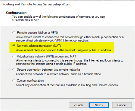Remte and Routing Access server Setup Wizard