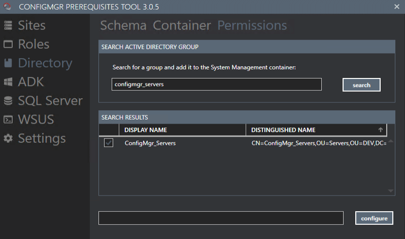 ConfigMgr Prerequisite Tool