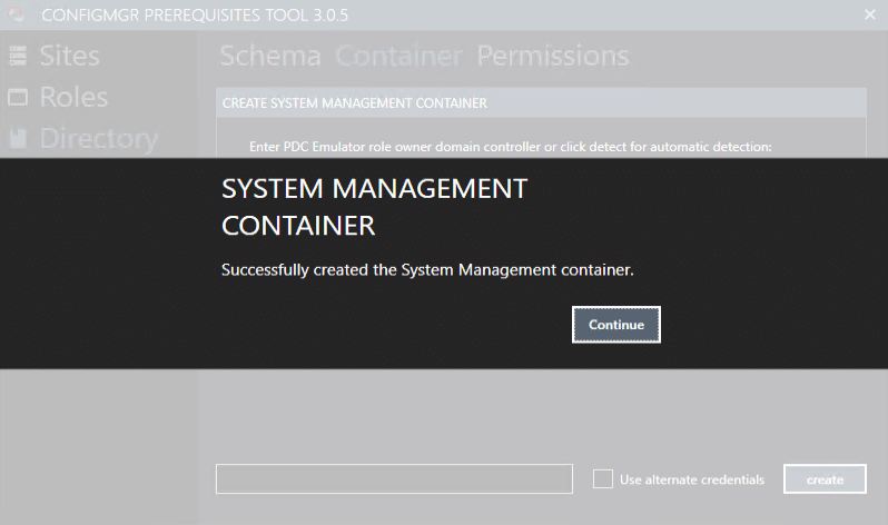 System Management Container