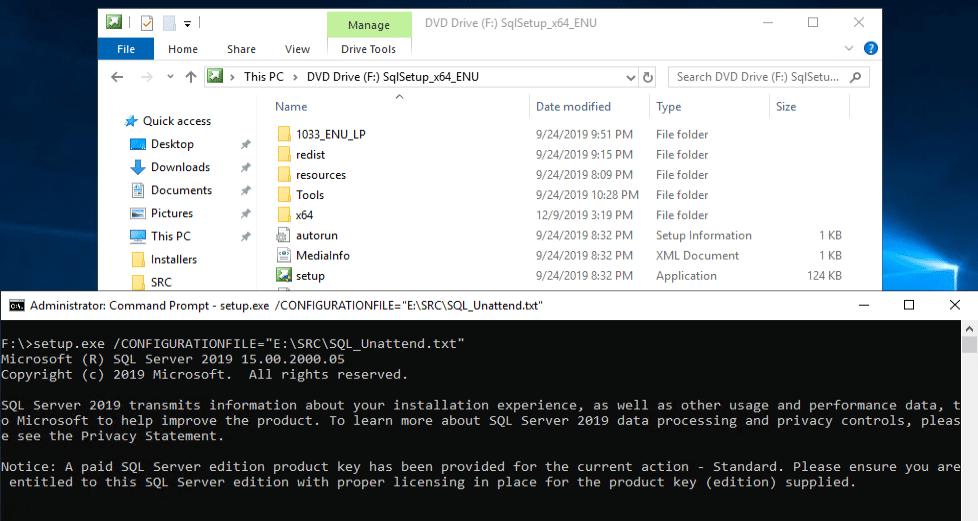 MEMCM Installing SQL
