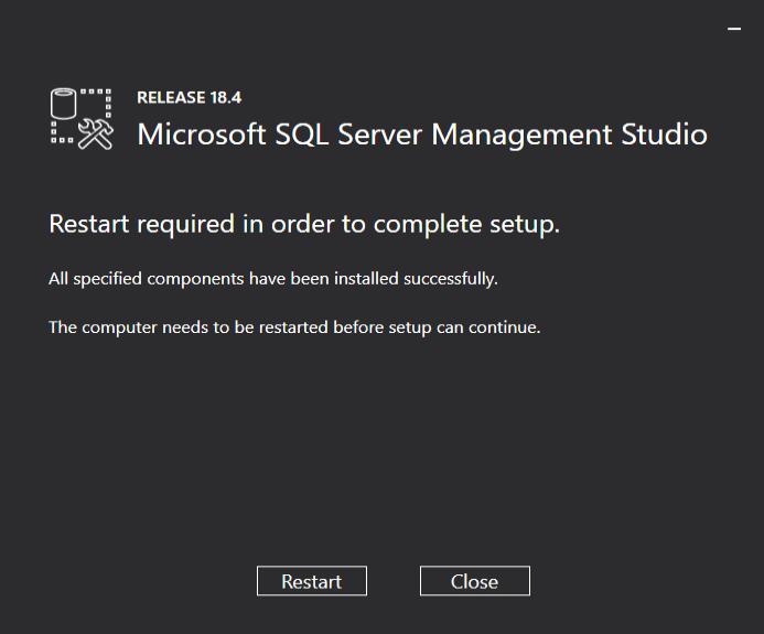 Microsoft SQL server Management Studio
