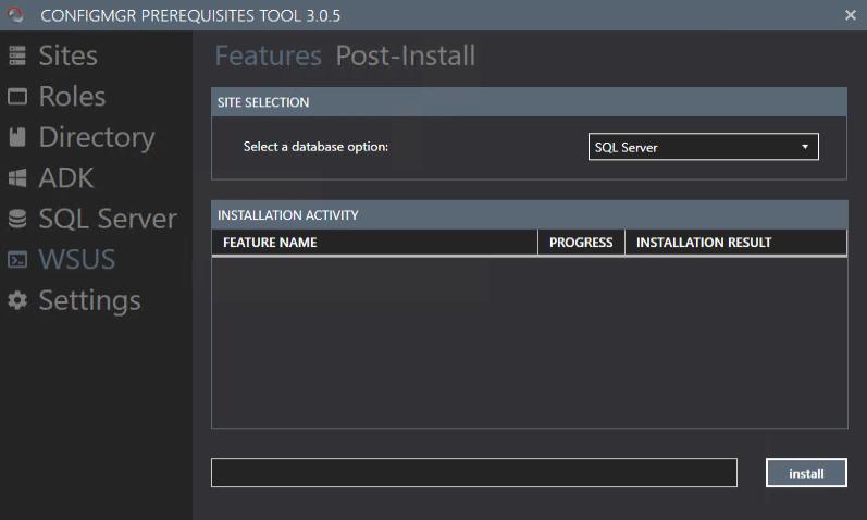 ConfigMgr Prerequisite Tools