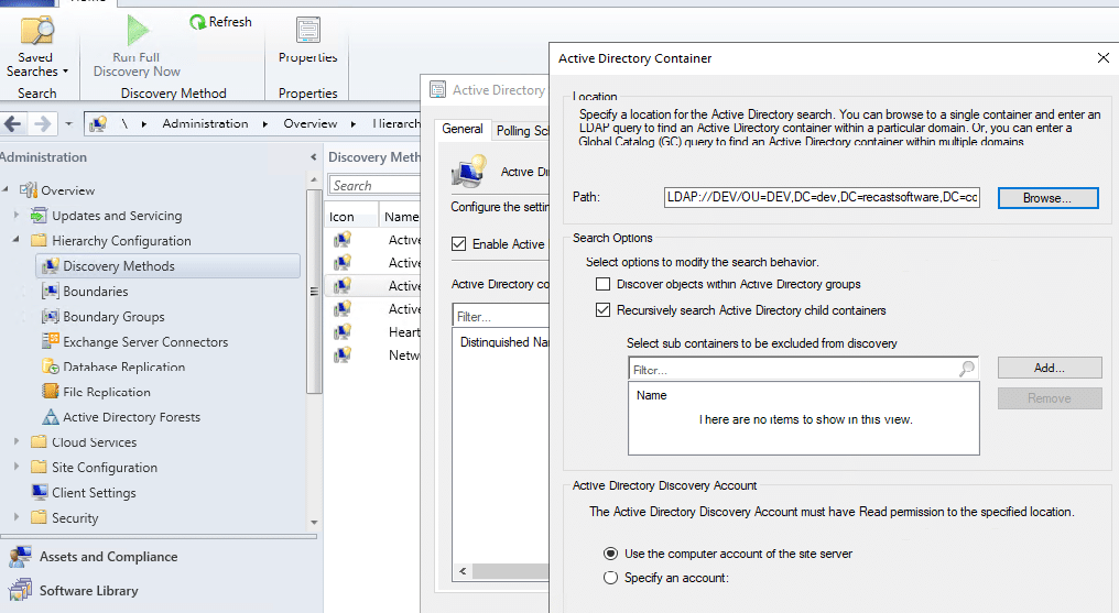 Active Directory Container