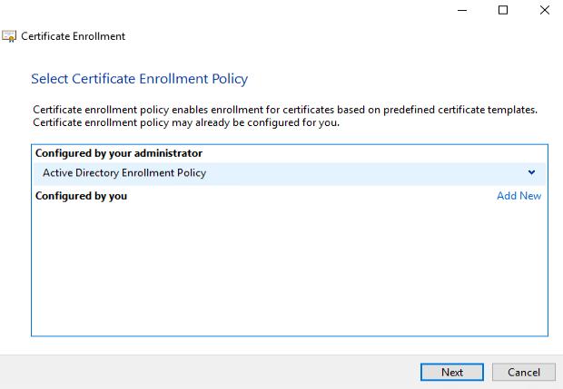 Certificate Enrollement