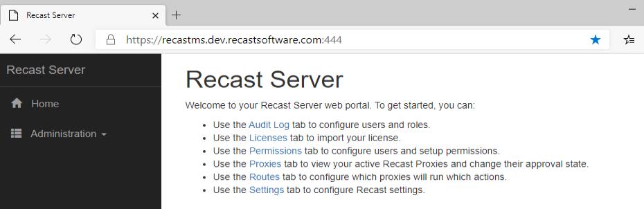 Recast Server