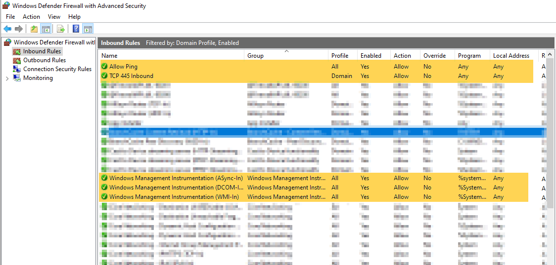 Windows Defender Firewall Advanced Security