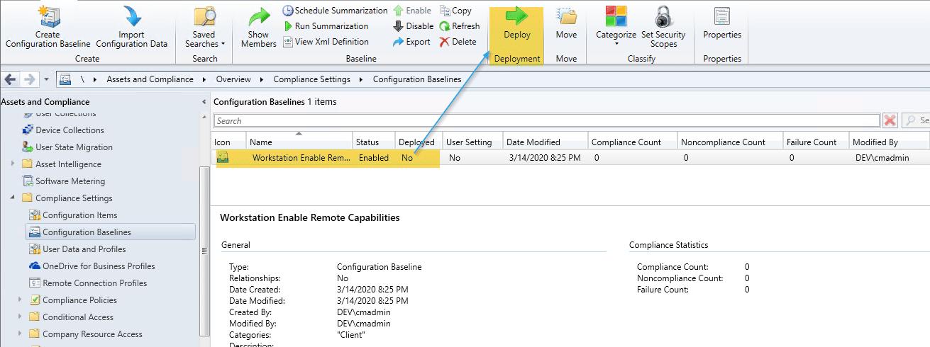 Deploy Configuration Baseline