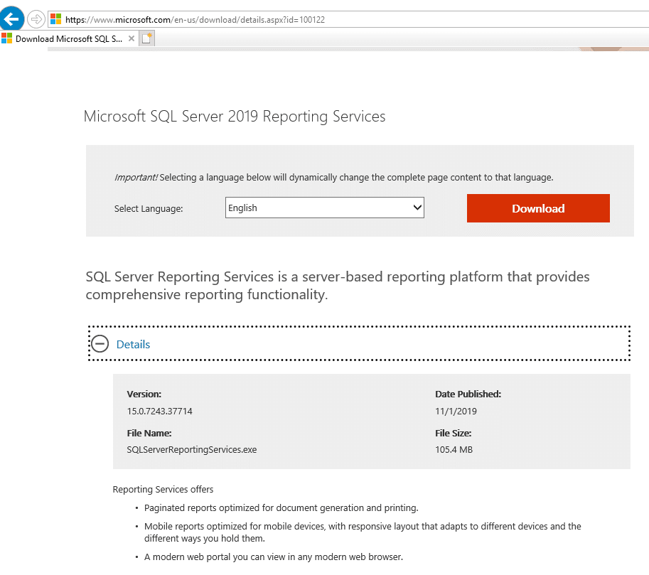 Microsoft SQL Server Reporting