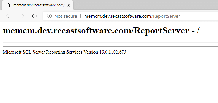 MEMCM SQL Server Reporting Services