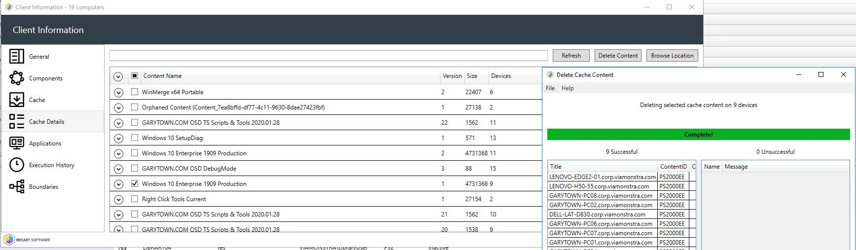 Client Info Cache Details