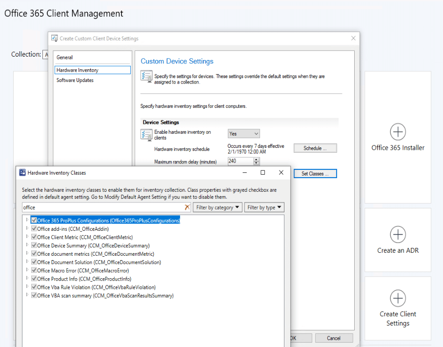 Office 365 Client Management