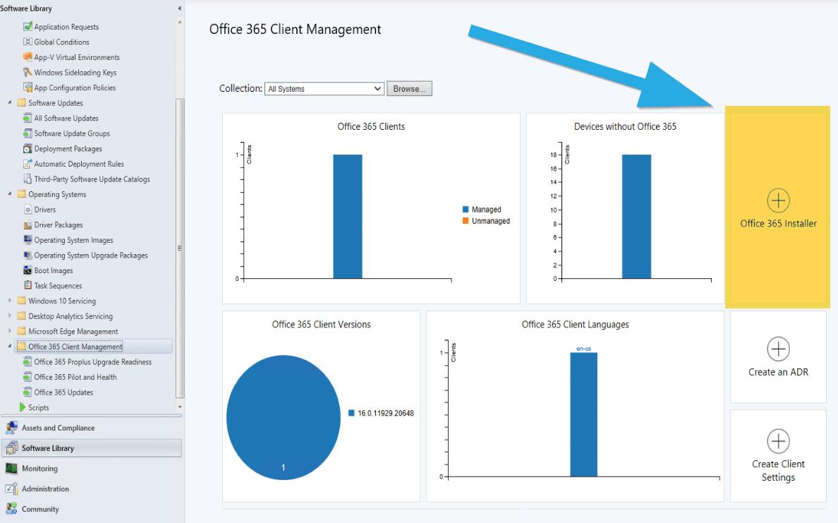Nœud de gestion des clients Office 365