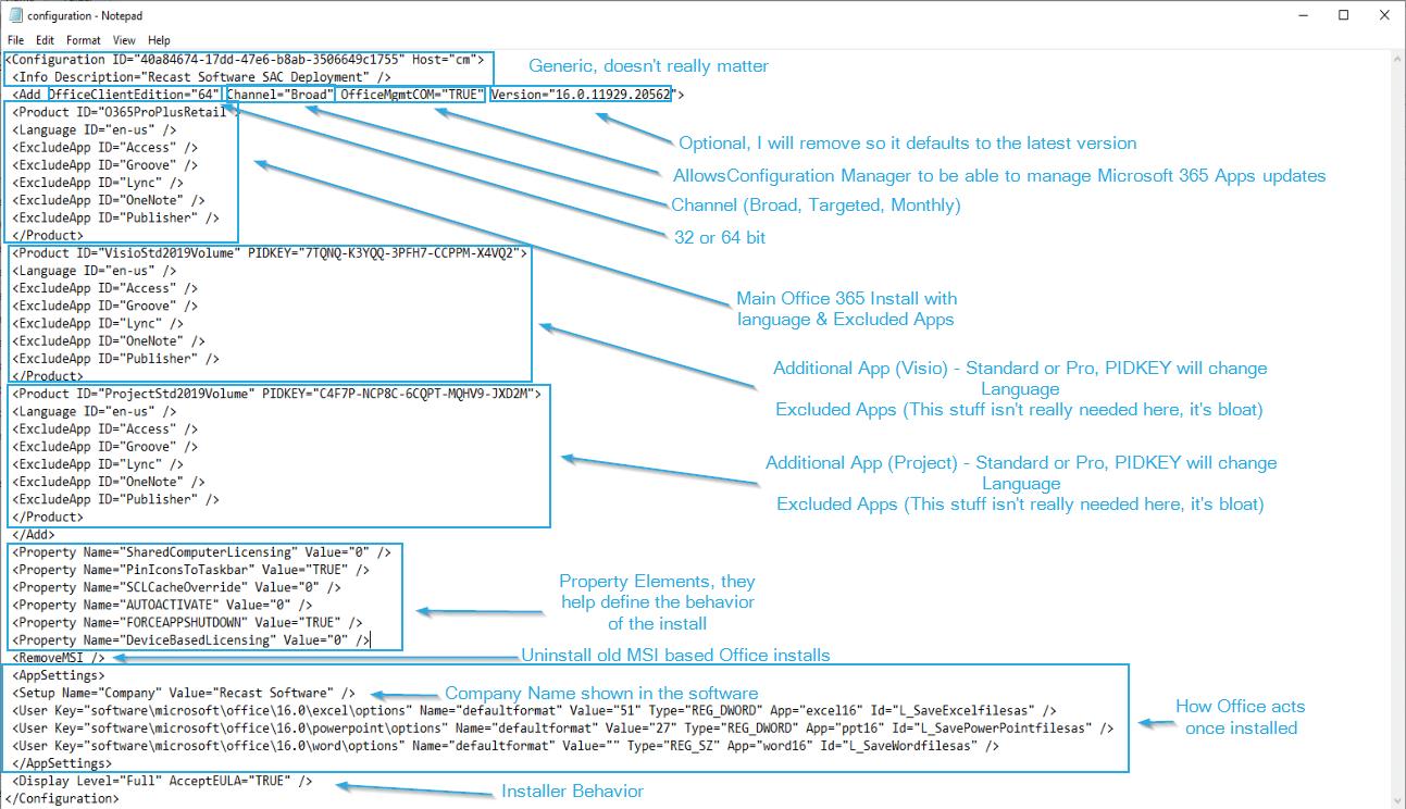 XML File Office 365 Deployment
