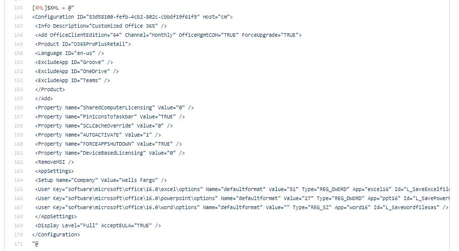 XML File Customize
