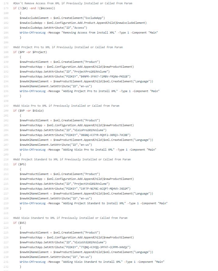 XML Settings