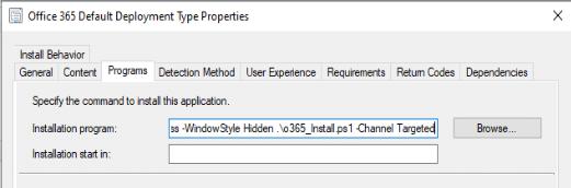 Office 365 Deployment Script