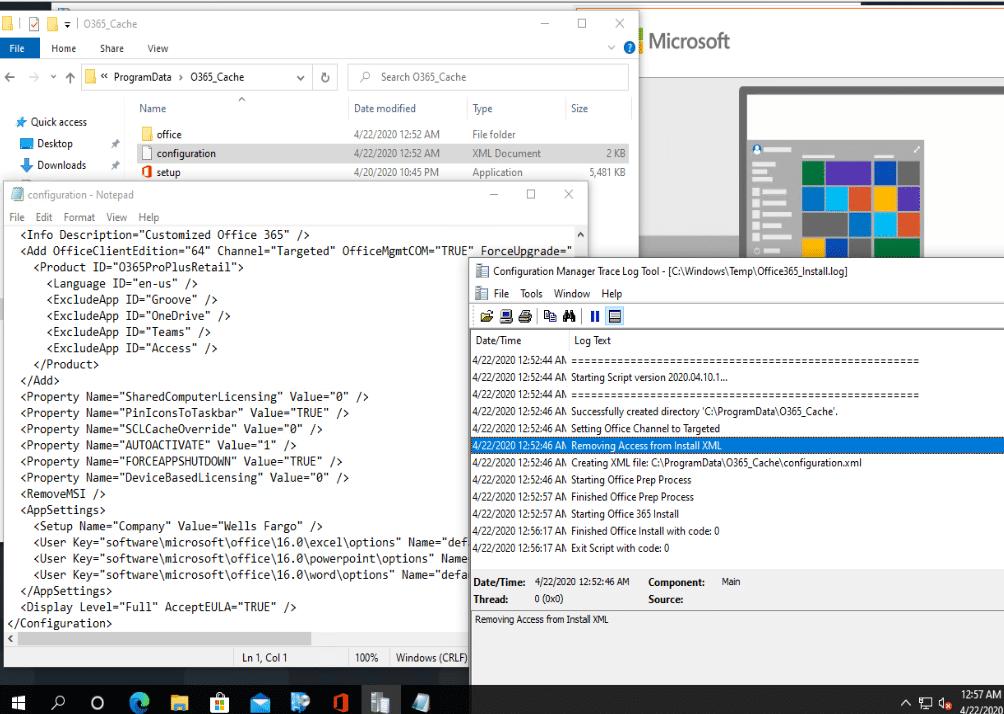 Configuration File Office 365 Deployment