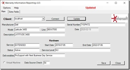 Dell Warranty Status - Warranty Information Reporting