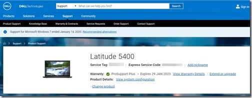Normalized Warranty Results - Latitude 5400