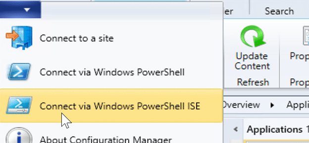 App Revision Cleanup - Connect via Windows PowerShell ISE